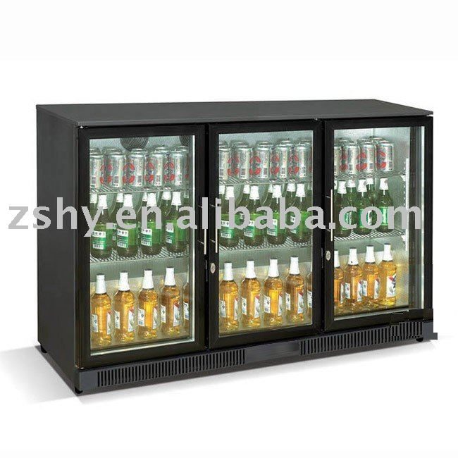Undercounter Black Bar Fridge With 3 Glass Door Buy Glass Door