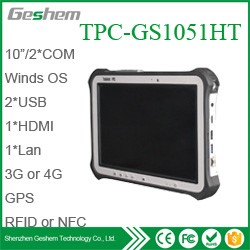 X86 single board computer 10.1 inches windows10 rugged tablet pc