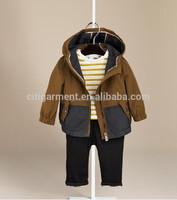Boy's 3M-3Years Colour Block Hooded Rain Showerproof Jacket