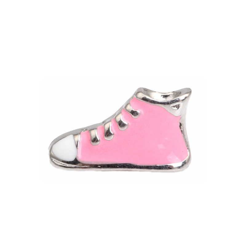 Fashion Jewelry Diy Locket <strong>Charm</strong> wholesale Pink Shoe Floating <strong>Charm</strong> For Locket