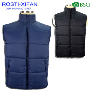 Padded Vest Men Sleeveless Clothing Fashion Vest for Winter and Autumn