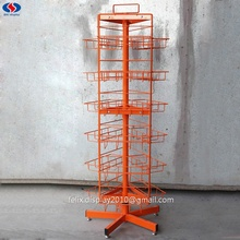 Roterende Swivel Metal Opknoping <span class=keywords><strong>Draad</strong></span> Snack <span class=keywords><strong>Snoep</strong></span> <span class=keywords><strong>Display</strong></span> Rekken Stands met Wielen
