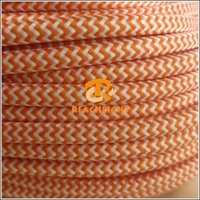 2 or 3 core 0.75mm2 Electrical Wire Textile Cable Fabric Power Cable Cotton Covered Wire