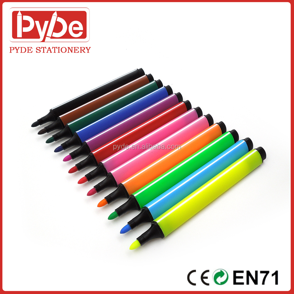 12 colors Jumbo l multi water color marker pen for art