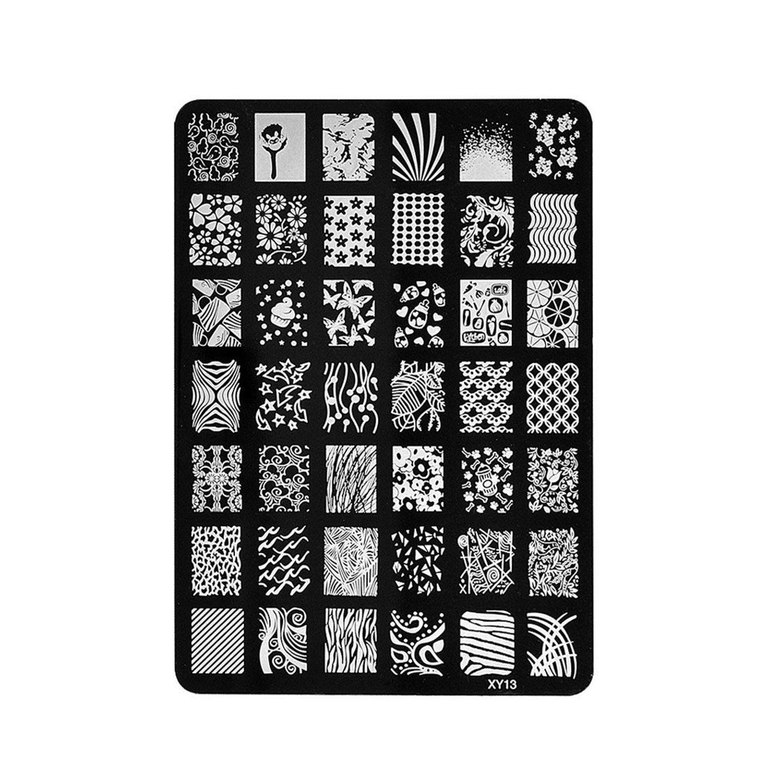 1 Pc First Class Popular New Nail Art Stamping Steel Acrylic Manicure Kits Printing Plates Model Patterns XY-03