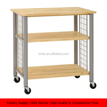 Wood And Metal Kitchen Trolley Storage Unit Moving Table Cart - Buy 3-tier  Shelf Kitchen Trolley,Arts And Crafts Storage Units,Lockable Storage Units  ...