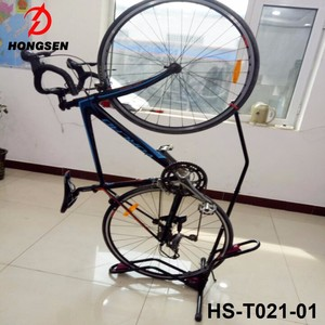 Portable bicycle parking stand heavy duty bike storage rack wheel display stand