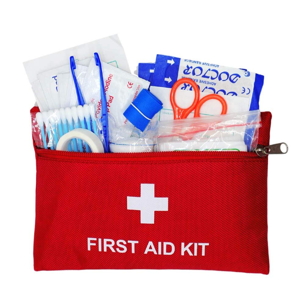 Medical Bag First Aid Kit Stocked with Medical Supplies for Outdoor and Indoor Activivities Emergency and Survival Compact Response Trauma Bag Camping Travel Car Treatment Pack Set