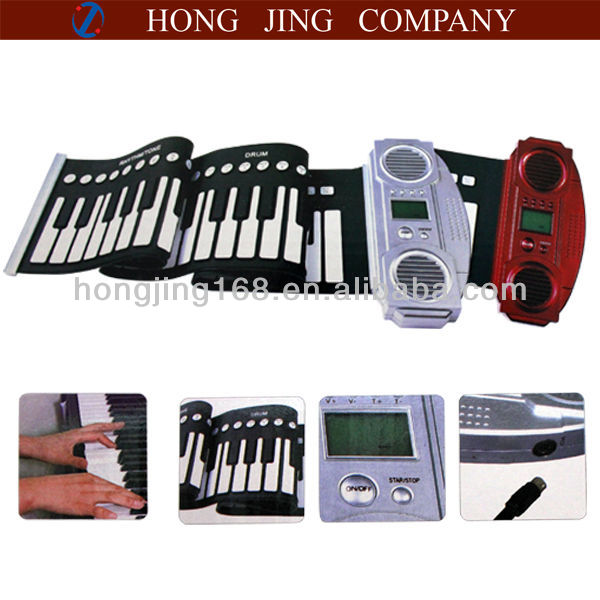 61 keys roll up electronic piano