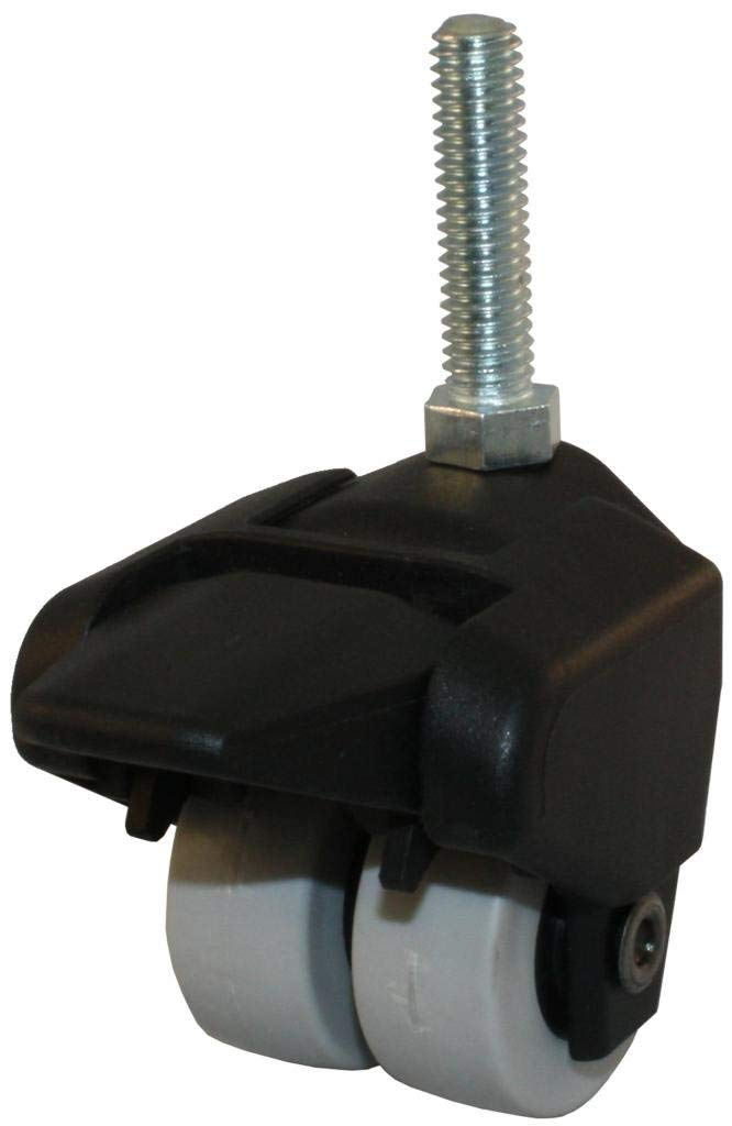 """Jacob Holtz 155-2XTPR-29-WB 1-1/2"""" X-Caster, thermplastic rubber dual wheel caster with brake (Set of 4)"""