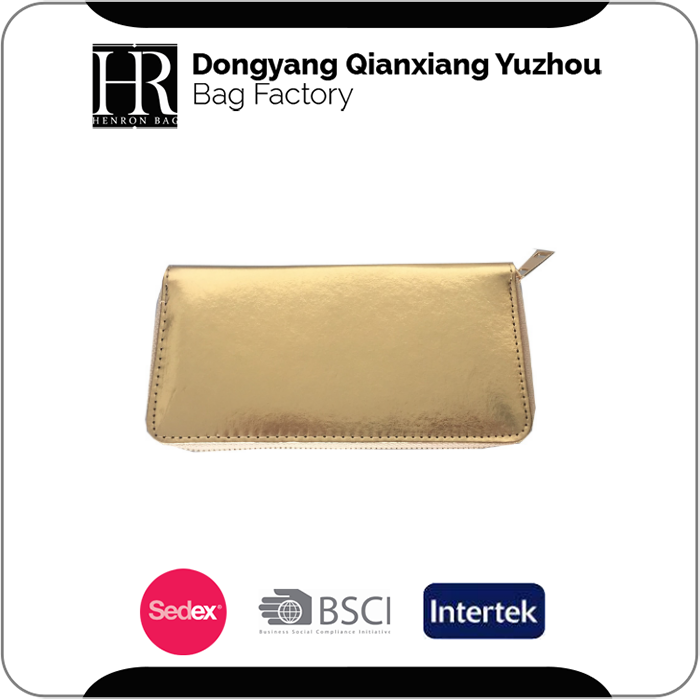 Export Oriented Bag Manufacturer Lady Wallets Women Purses Laser PVC