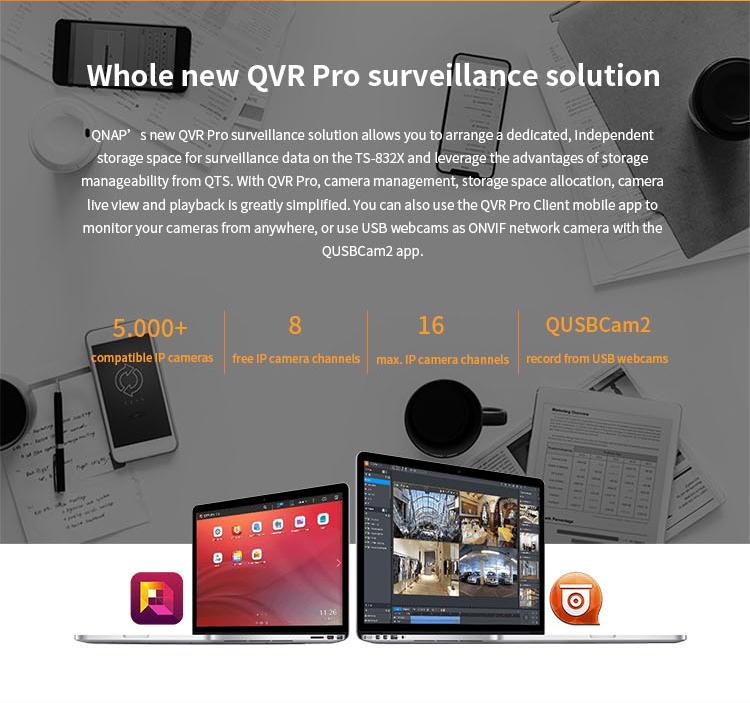 Qnap Ts-832x-2g 8 Bay 64-bit Nas With Built-in 2 X 10gbe (sfp+)  Network,Hardware Encryption,Nas Storage Server - Buy Nas Storage