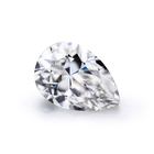 Pear cut 7*9mm Clear White Simulate Diamonds Synthetic Moissanite Loose Stones Rough uncut Price of 1.5carat Diamond