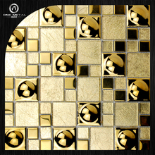 One matal 304 mosaic tile massiv metal Stainless Steel marine brushed