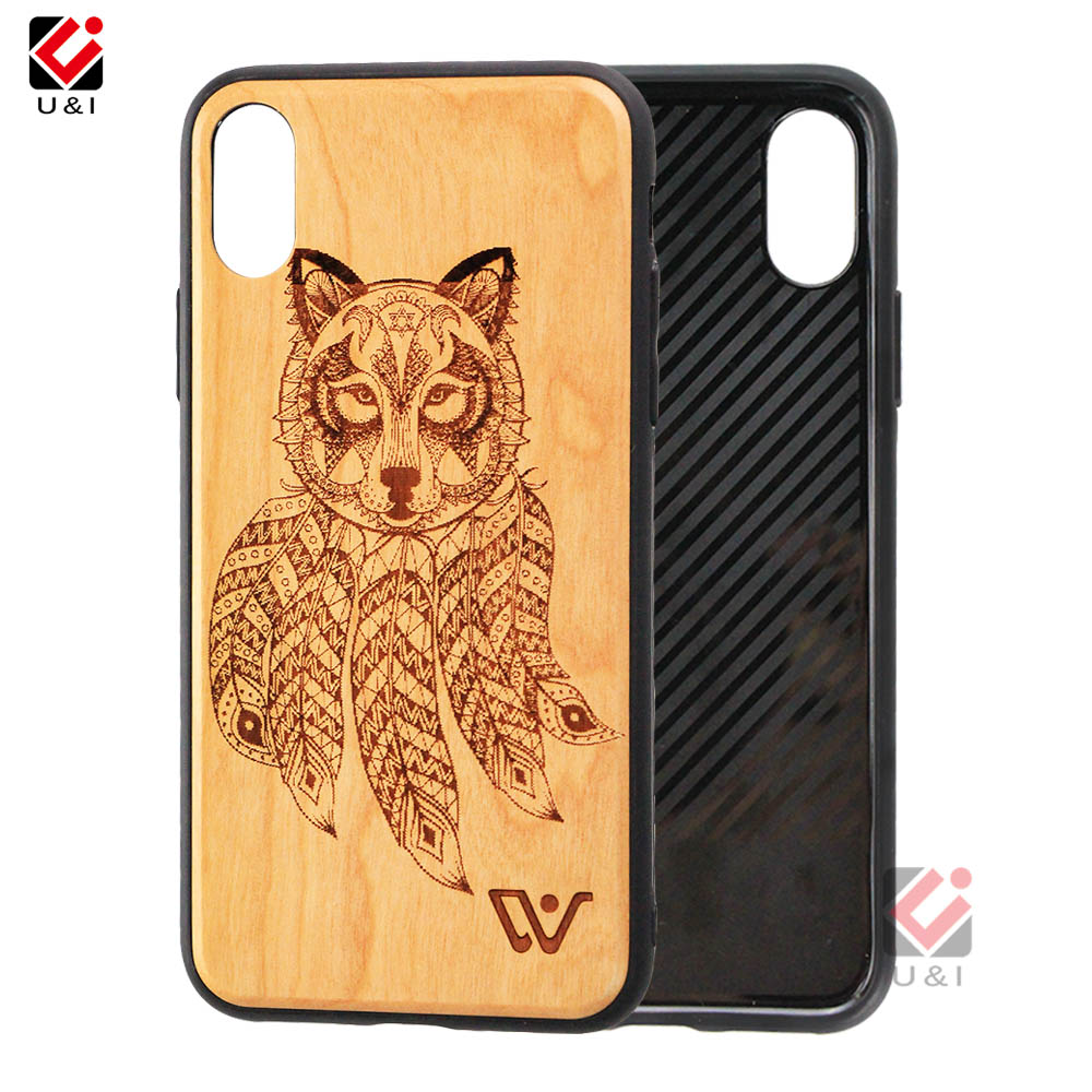 Custom Design Wood Phone Back Cover Case Import Mobile Phone Accessories Wood Cover for iPhone 7