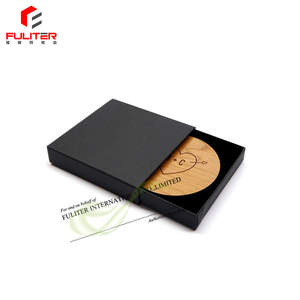 Custom Black Cardboard Paper Gift Packaging Coaster Boxes