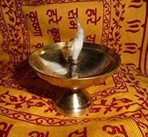 Artcollectibles India Kuber Brass Diya Akhand Jyot Hindu Havan India Religious Item Aarti Diwali Puja