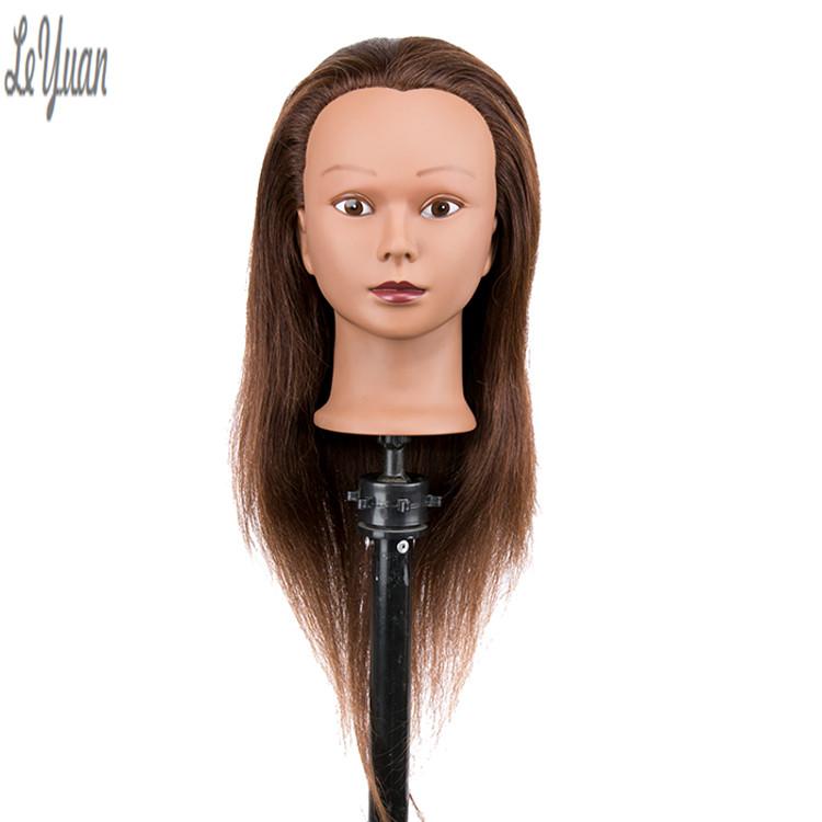Manufacturer Supplier Custom Eu Face Perm Cutting Mannequin Head Realistic Size Adjustable Hair Black Mannequin Head фото
