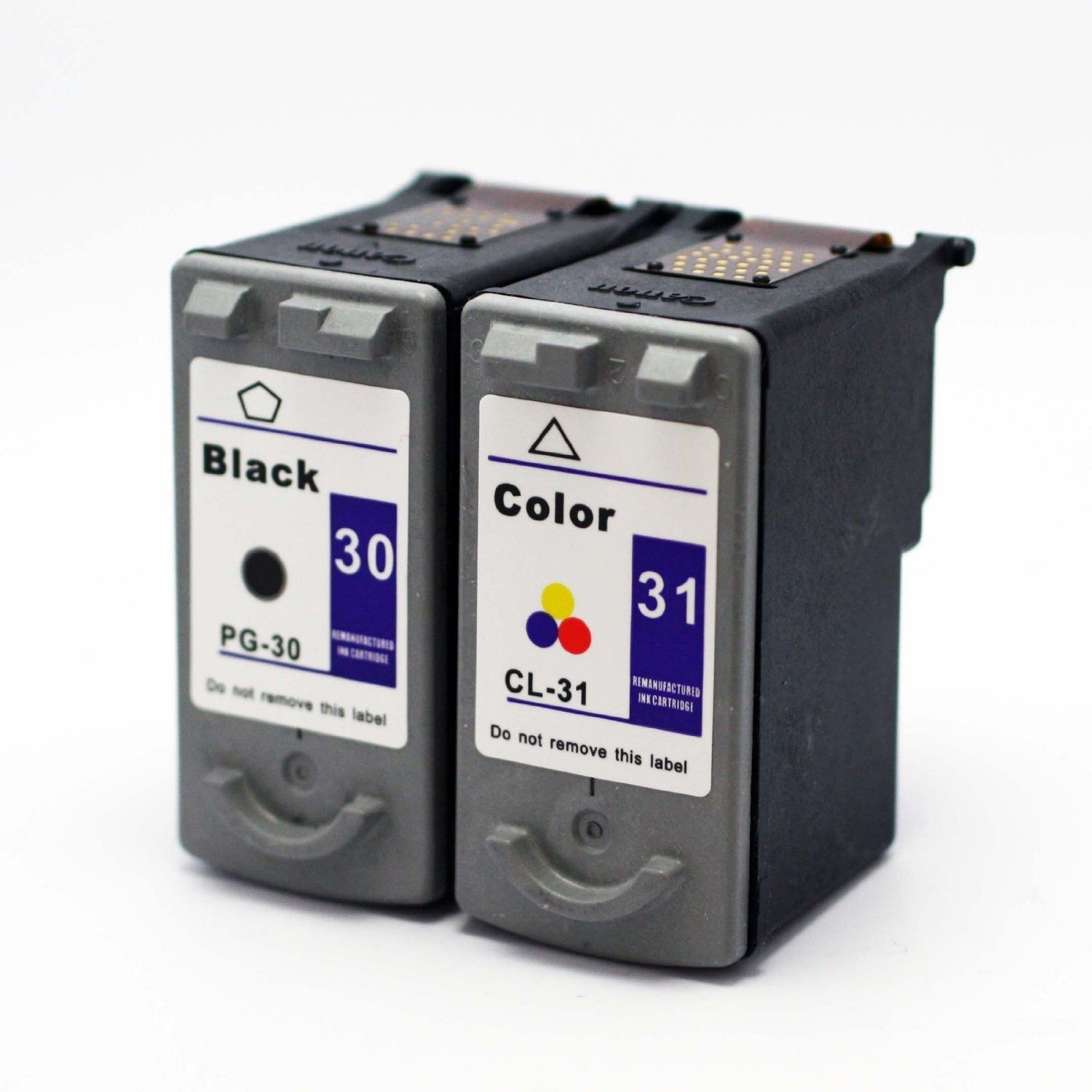PG30 PG-30 / CL31 CL-31 Remanufactured CANON Black and Color Printer Ink Cartridge 2-Pack 1 Black + 1 Color for Canon Printers PIXMA iP1800 iP2600 MP140 MP210 MP470 MX310 MX300 MP190 iP-1800 iP-2600 MP-140 MP-210 MP-470 M-X310 MX-300 MP-190