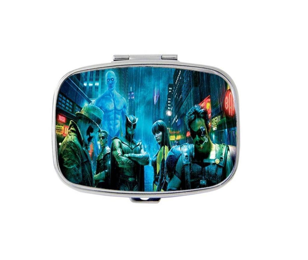 Carvin Design Watchmen Custom Personality Square Medicine Pill Vitamin Box Case Storage Dispenser Organizer Holder