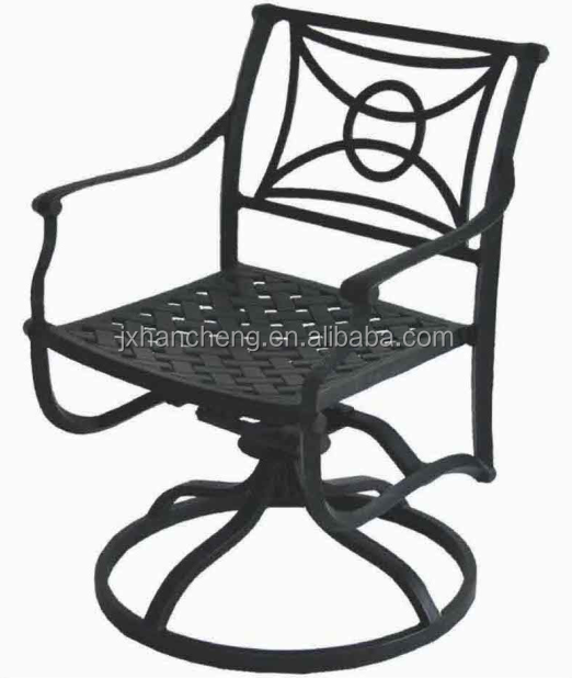 Casablanca Collection Round Cast Table Outdoor Dining Table Set All Weather  Outdoor Cast Aluminum Mesh Patio