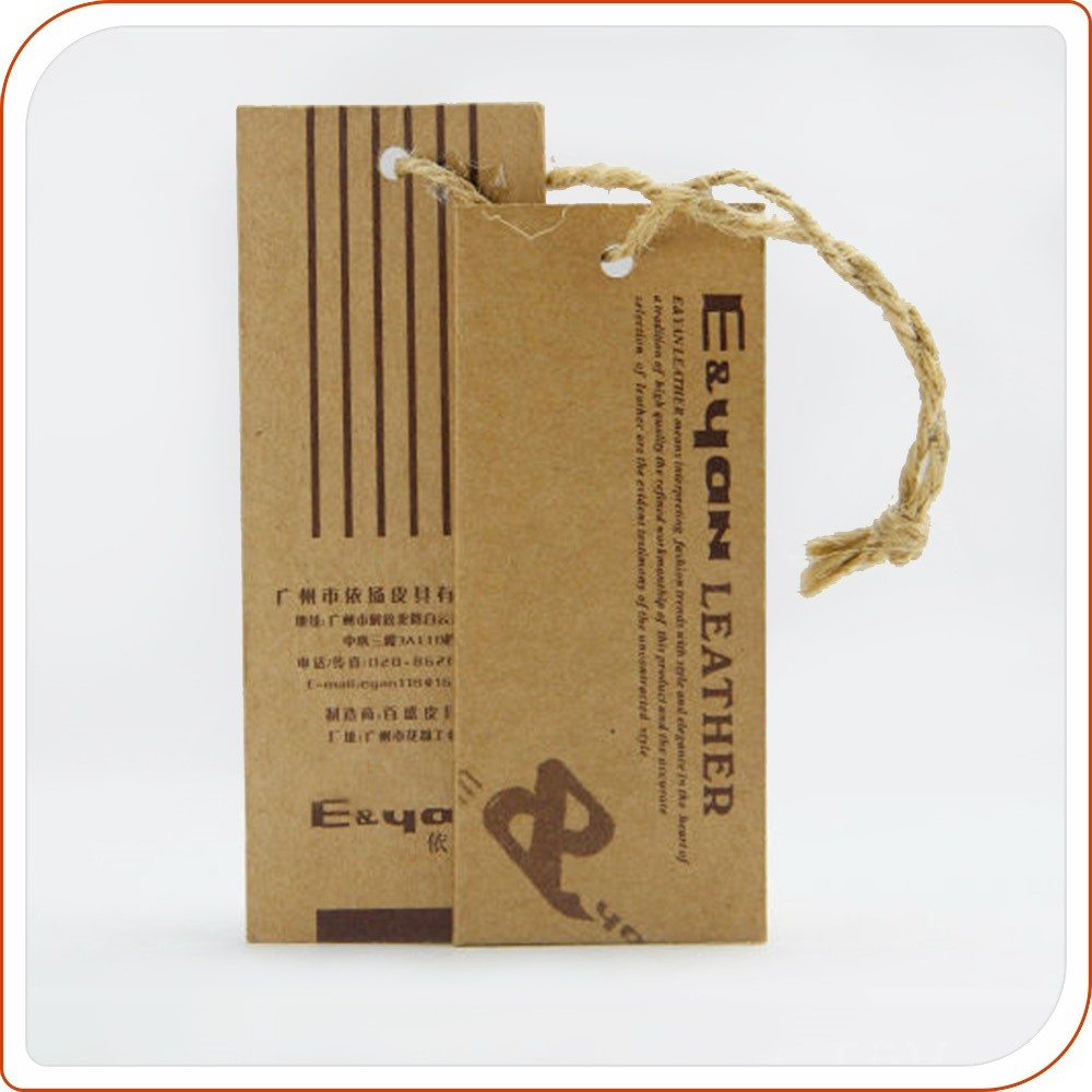 Kraft paper clothing tag manufacture personalized garment hang tags