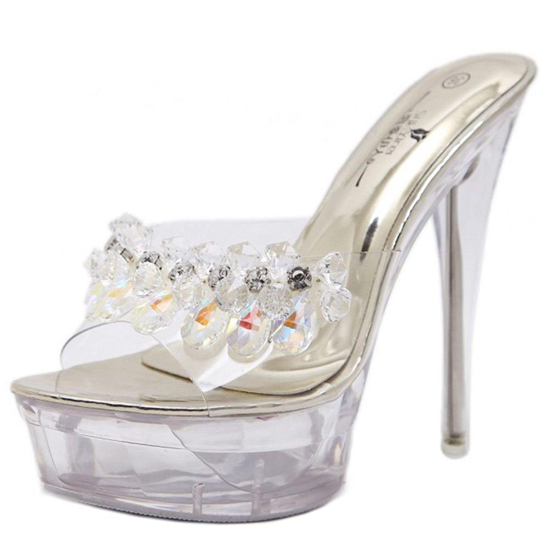 8b0c418a8678 Get Quotations · Zanpa Women Fashion Mules Stiletto Heel 13.5CM