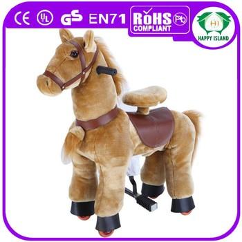 Cavallo A Dondolo In Peluche.Top Vendita Cavallo Di Peluche Bambino Bambini Giocattolo Giocoso