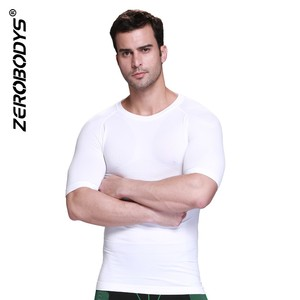 391 ZEROBODYS Outdoor Mens Body Shaper Quick Dry Short Sleeve Sports T-shirts Fitness Clothes Running Men