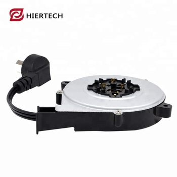 3 pin wires retractable power cord reel