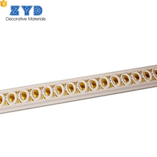 High Quality European style white golden Carving Cornice Pu Moulding Line