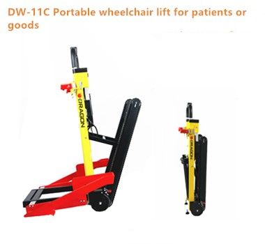 DW-ST003A Hot sale foldable for disabled stair climbing wheelchair