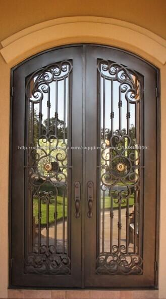 Venta al por mayor puertas dobles para seguridad compre for Puertas de metal con diseno