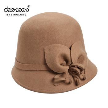 Oem odm Ladies Cloche Hat With 100% Australia Wool Felt Hats - Buy ... 382ebf63512