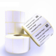 Plain White Self-Adhesive Label Blank Direct Thermal Barcode Labels Rolls 43x25mm Custom Size