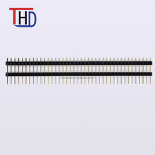 2.54 pitch single row double plastic straight pin header