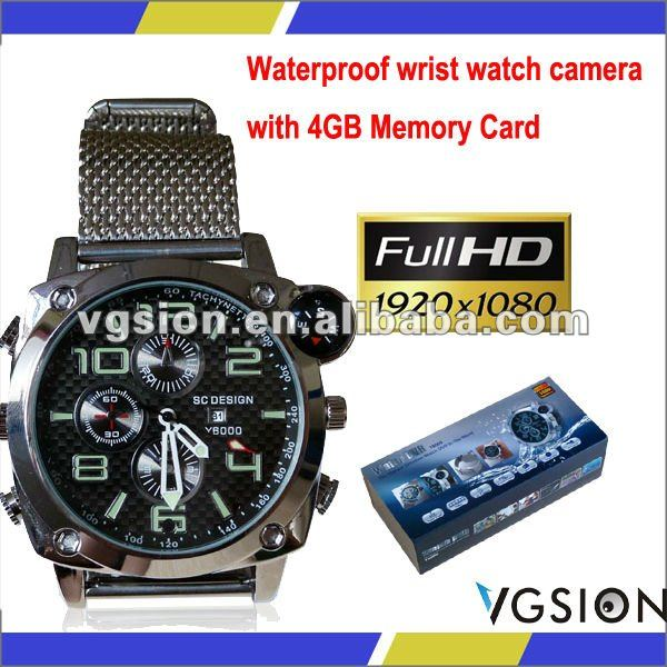 Hot Selling HD1080P Travel Hidden Wristwatch Camera Water Resistant Digital Video Audio Mini Camcorder DVR Support 8GB TF Memory