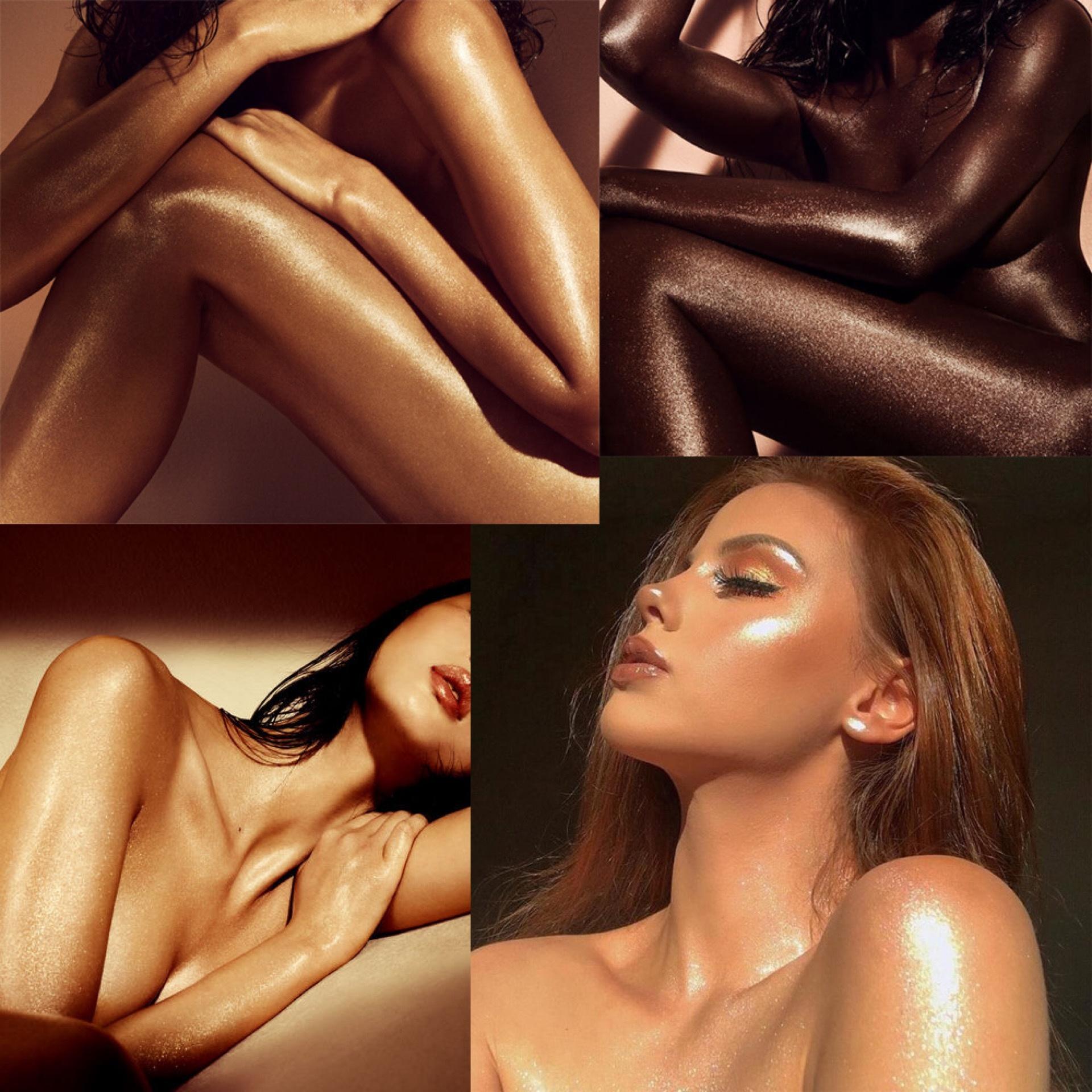 Private label Body Shimmer Oil no brand wholesale makeup body shimmer glitter highlighter spray