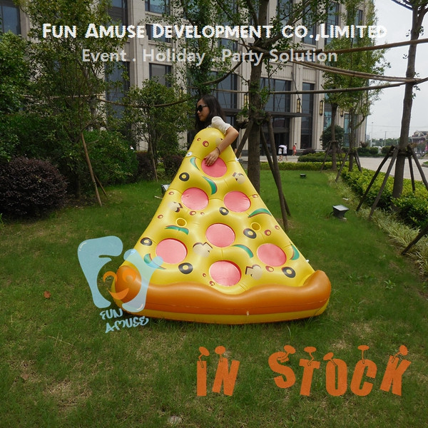 PVC hot sale adult air bed float giant inflatable pizza