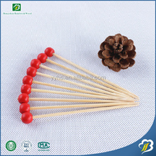 Eco-friendly Disposable Food Safe Red Skin Colored Knotted Skewers