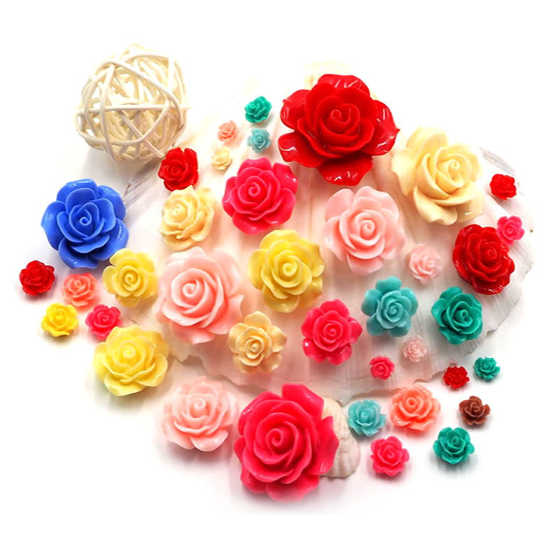 6mm 3D Nail Charms Rose Flowers 3D Nail Art Decorations