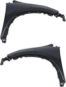Evan-Fischer EVA1690809140982 Fender Set of 2 Front Driver and Passenger Side Steel Primered