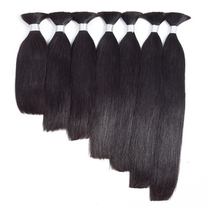 Wholesale cabello natural brazilian human hair bulk extension in dubai best hot selling