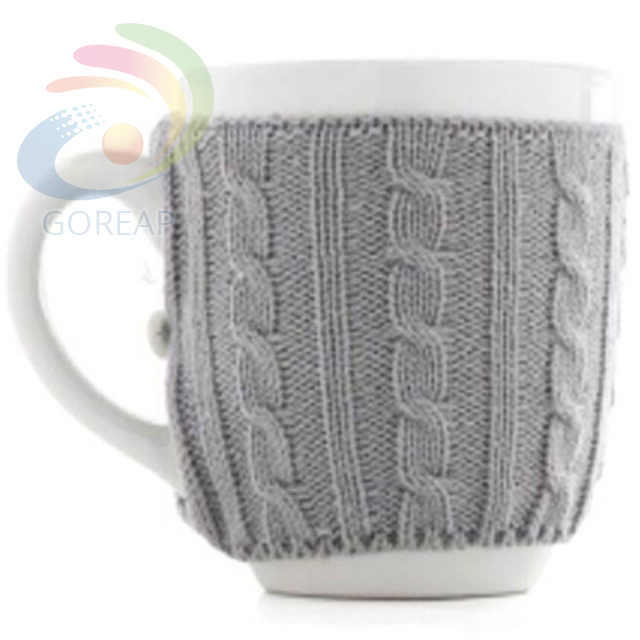 Professional coffee cozy pattern crochet knitted sleeve cosy for mug warmer Fashion cup with manufacture