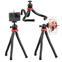 High Quality 305 Flexible Octopus Mobile Phone Camera DSLR Tripod for Travel Photography,1/4 universal screw Selfie Stick Stand