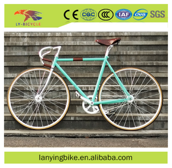 Bright Blue Goat Handle Bar 700c Wheel Chromium Molybdenum Steel Frame  Fixed Gear Bike - Buy Europe Retro Style Road Racing Bike With High