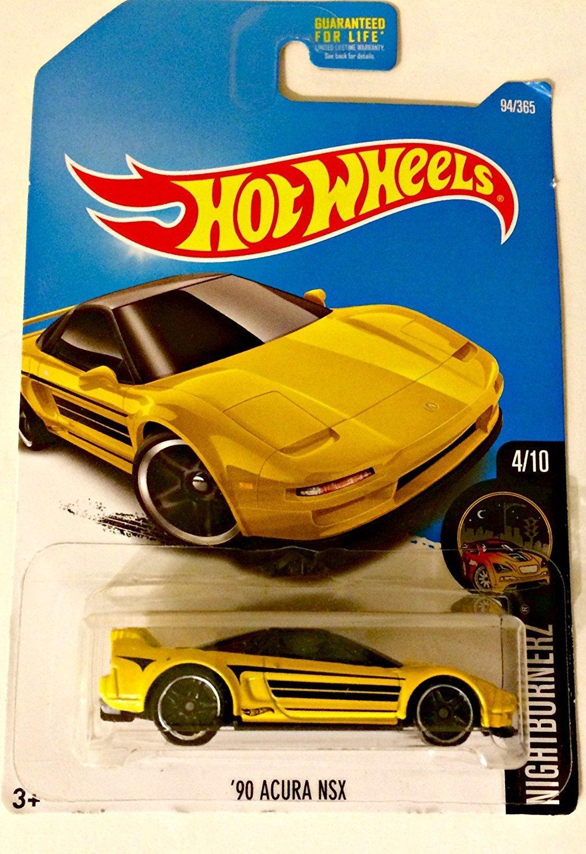 Get Quotations · Hot Wheels, 2017 Nightburnerz, '90 Acura NSX [Yellow]  94/365