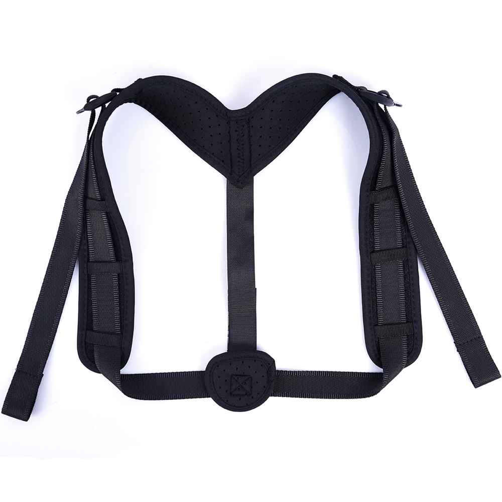 Unisex adjustable corrector posture support shoulder brace figure upper back brace posture corrector, Black or customized