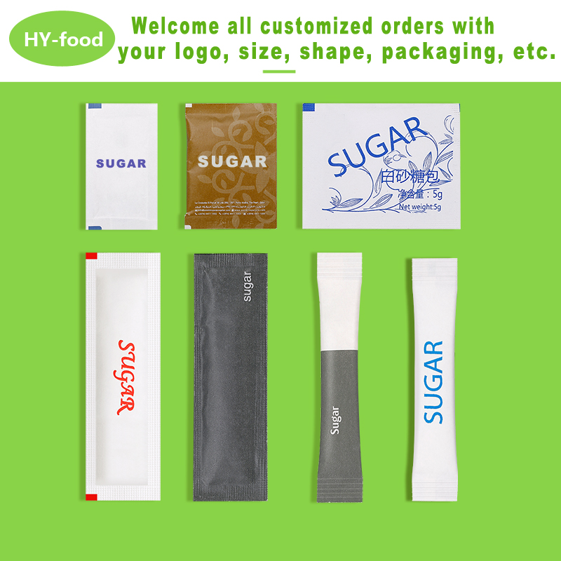 white sugar disposable coffee sugar in stick sachet for wholesale