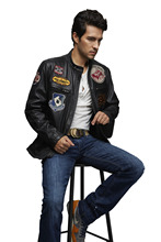 New Design Men Black Leather Jacket Classical Man Jacket Fashion Leather Biker Jacket
